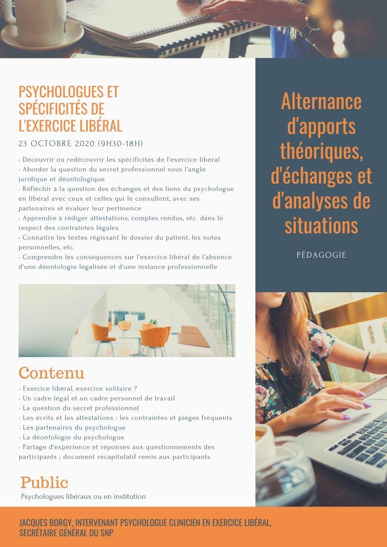 PSYCHOLOGUES ET SPÉCIFICITÉS DE L'EXERCICE LIBÉRAL