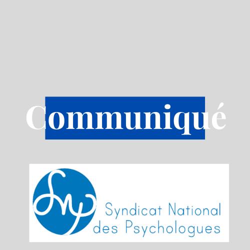 OUI A L'accès au psychologue pour tous, MAIS pas dans n'importe quelles conditions! Le Syndicat National des Psychologues défend la Profession