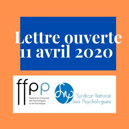 Lettre ouverte au Premier Ministre, Édouard Philippe et au Ministre des Solidarités et de la santé, Olivier Véran sur la nécessité d'une concertation des psychologues pour la constitution de la cellule nationale d'écoute psychologique