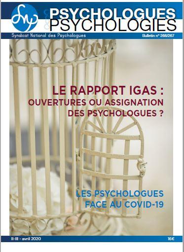 Parution en ligne du P&P n°266/267 «Le rapport IGAS : ouvertures ou assignation des psychologues?»