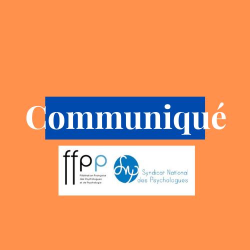 COMMUNIQUE FFPP SNP : À propos du remboursement des consultations de psychologie