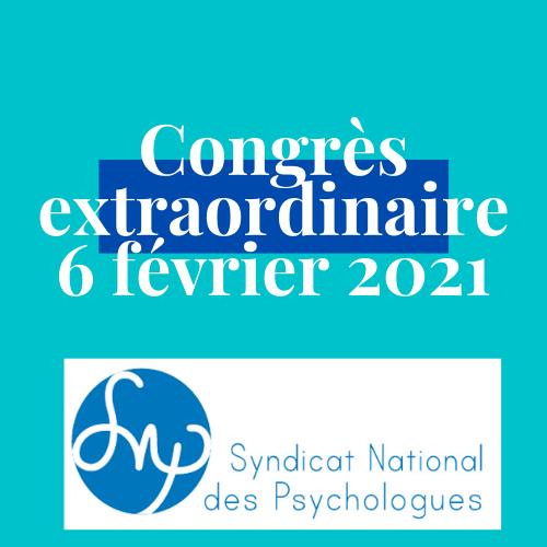 Congrès Extraordinaire du 6 février 2021