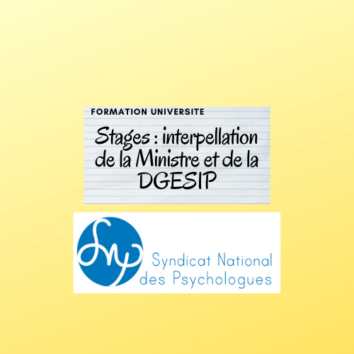 Stages : interpellation de la Ministre et de la DGESIP