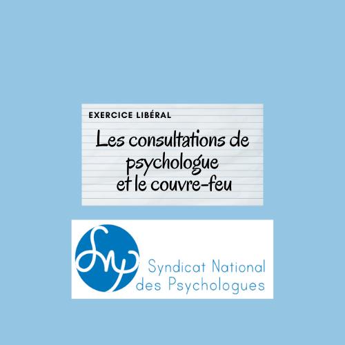 Les consultations de psychologue en libéral au 1er avril 2021