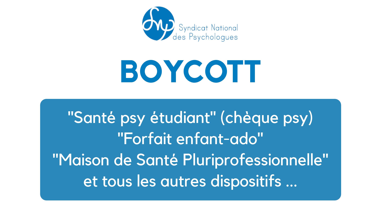 BOYCOTT DE L'EXTENSION DU DISPOSITIF  «Ecout'Emoi»