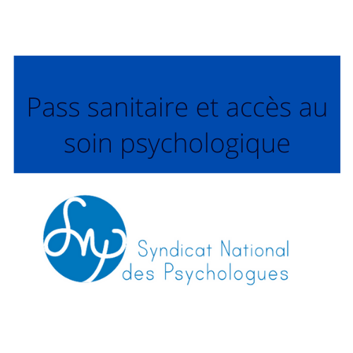 Pass sanitaire et accès au soin psychologique