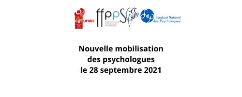 Nouvelle mobilisation des psychologues le 28 septembre 2021